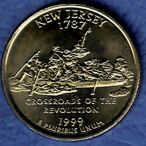 NJ New Jersey Uncirculated State Quarter (AU-60 or better)